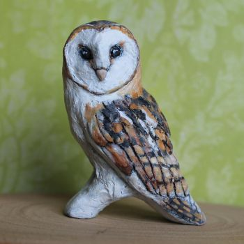 Barn owl figurine by thai-binturong