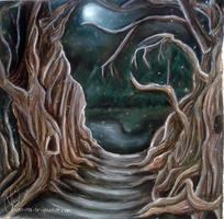 Trees in night by wasipol