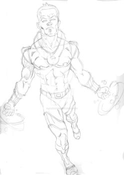 Omegan Action Shot, WIP by ArtistSpike