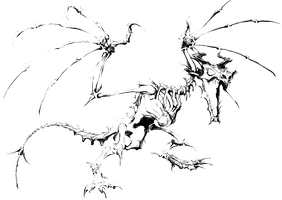 Skeletal Dragon icon by SlamItIcon