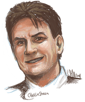 Charlie Sheen by ZombieGnu