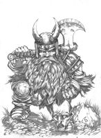 Dwarf warrior by komus