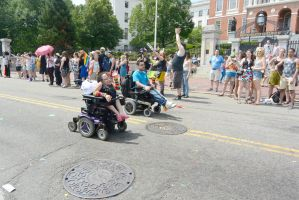 2015 Boston Pride Parade, Wheeling Down the Street by Miss-Tbones