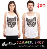 CAT SUMMER TANKS by dandingeroz