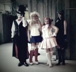 Steampunk-Inspired Sailor Moon - The Four of Us by mihoyonagi