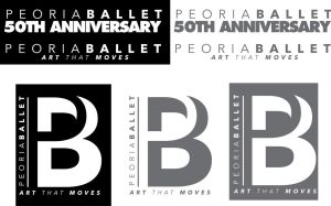 Final Peoria Ballet 50th Anniversary Logo by jwagnaar