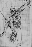 Spidey sketch by RazKurdt