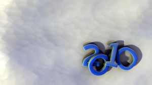 2010 wallpaper in blue by TheBigDaveC