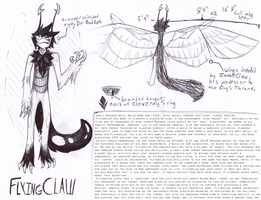 FlyingClaw sketch/temp ref by Incyray
