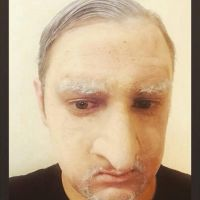 new old age look with fake nose. by SonOfBloodyFace