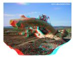 Beach tree (3d anaglyph view red/blue glasses). by waigy