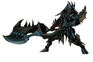 Azure Rathalos Armour - Colour by ChocolateBiscuits