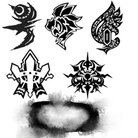 FFCC:TCB Emblem Brushes by oathkeeper9918