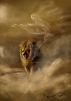 The Lion and the Wind by EvaKedves