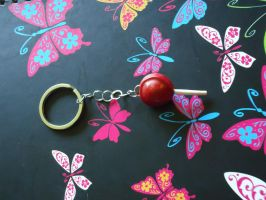 Mini Tootsie Pop Key Chain by Queen-Of-Cute