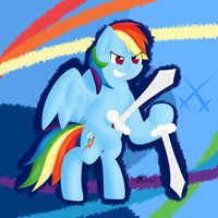 Rainbow Dash - Dual Wield by extreme-sonic