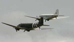rear view dc3 s fly past by Sceptre63