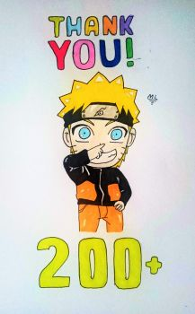 Thank you for 200+ Watchers!! by RasengaMike