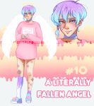 [CLOSED ADOPT #10] Literally Fallen Angel by fluffypepole