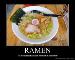 ramen motivational poster by alazay12345