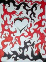 Flamming Heart by sexykitty2385