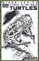 TMNT Sketchcover with Casey Jones by ElfSong-Mat