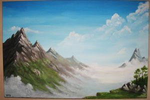 Mountains Acrylic by Joey-B