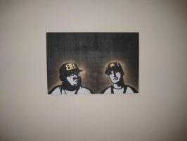 rob and big stencil on canvas2 by wakingkillsthedream8