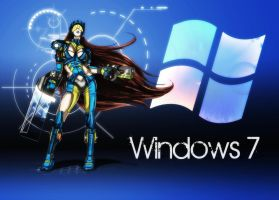 Windows 7 Girl Wallpaper by Namh