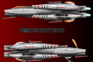 Galactic Collective Brimmstone Heavy Starfighter by capriceklasik