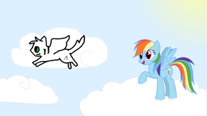 Meeting Rainbow Dash by cloudkit25