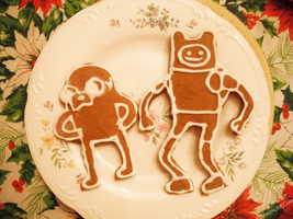 Gingerbread Adventure Time Cookies by Silent--Haze