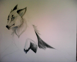 Traditional Watercolor Winter: WIP by Capukat