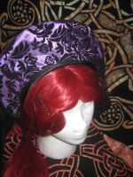 Tudor inspired headband with Veil 3 by WillowForrestall