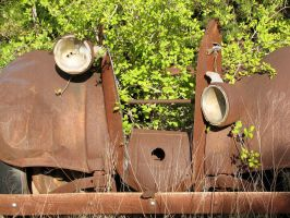 Rusty Car Frame 4 by Altaria13-Stock