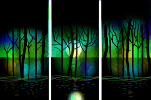 Forest by night by sptanwar