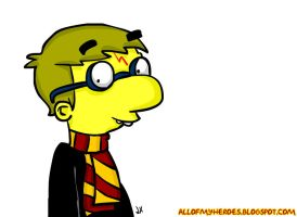 Simpsons Harry Potter by jeaux