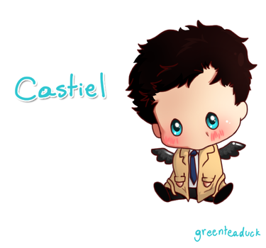 Supernatural: Cas bb by greenteaduck