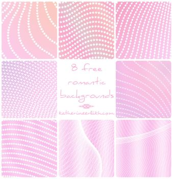 Pink Peach White Hearts Background by amuratake