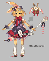Adopt Auction: Role Playing Girl (closed) by cottonpuffs