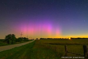Northern Lights - Aurora Borealis from Missouri by CRELLIOTT0302