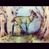 Deer on a Napkin by dyb