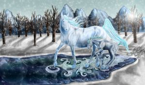 Ethereal Equines: Ice by aliy-chexmix-yummie