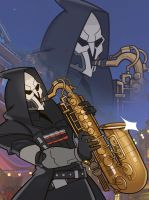Overwatch, Reaper by SplashBrush