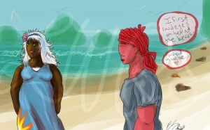 Rick Meets Coconut Princess -AT- by lonesome-wolf-child