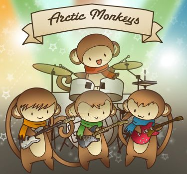 Arctic Monkeys Playing by Tamachan87