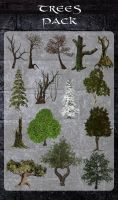 3D Trees Pack by zememz