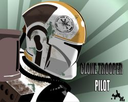 clone trooper pilot by R-Clifford