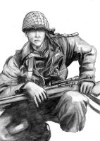 WWII Sniper by lance-boudreaux