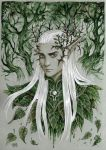 His crown of thorns and mistletoe by Candra